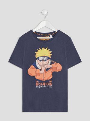T shirt manches courtes Naruto bleu garcon