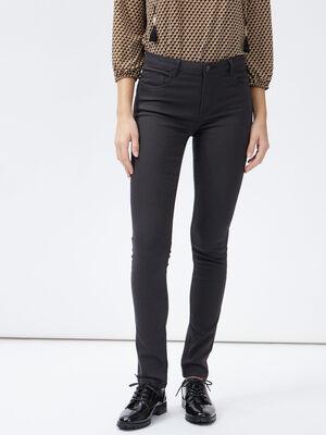 Pantalon skinny taille basse gris fonce femme