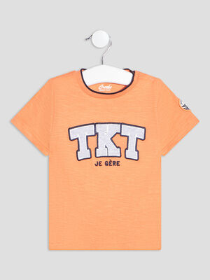 T shirt manches courtes Creeks orange bebeg