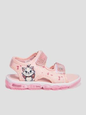 Sandales Les Aristochats rose fille