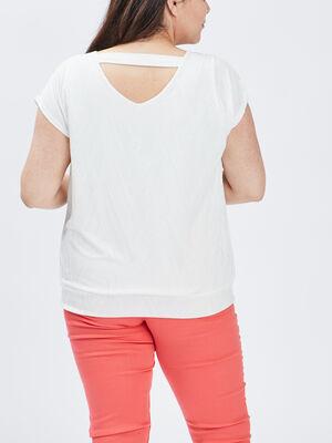 T shirt manches courtes ecru femmegt