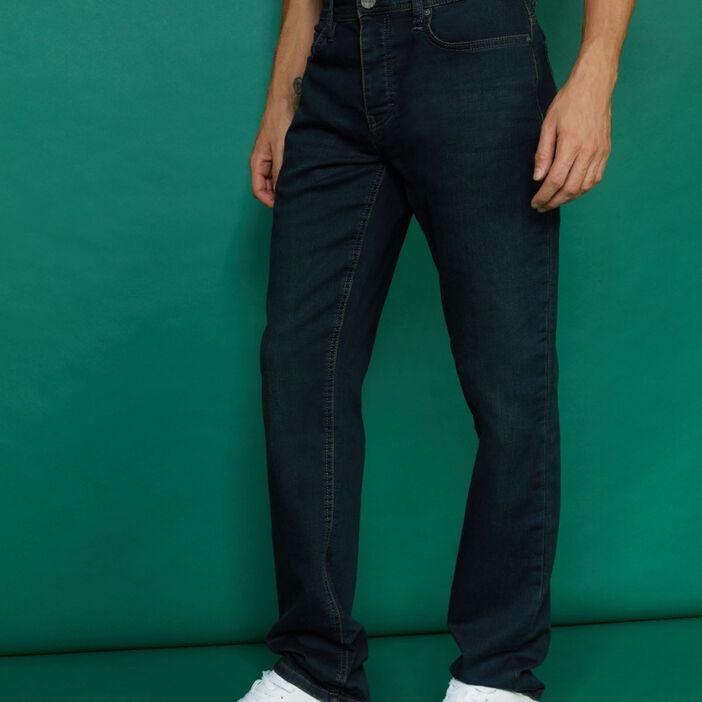 Jean droit 5 poches homme denim blue black