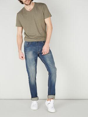 Jeans slim effet delave denim dirty homme