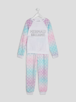 Ensemble pyjama 3 pieces multicolore fille