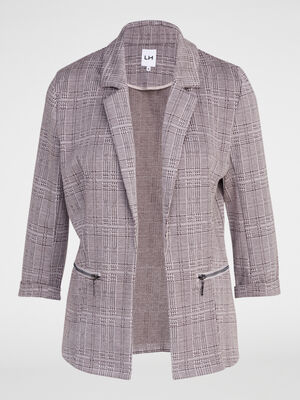 Veste a poches zippees beige femme