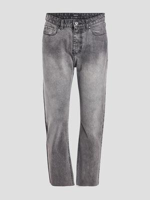 Jeans straight 78eme denim gris femme