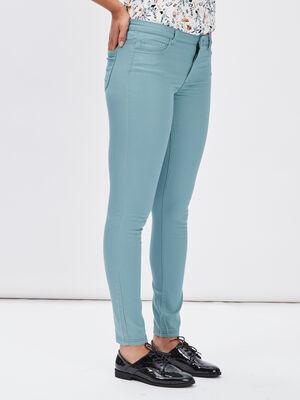Pantalon slim vert clair femme