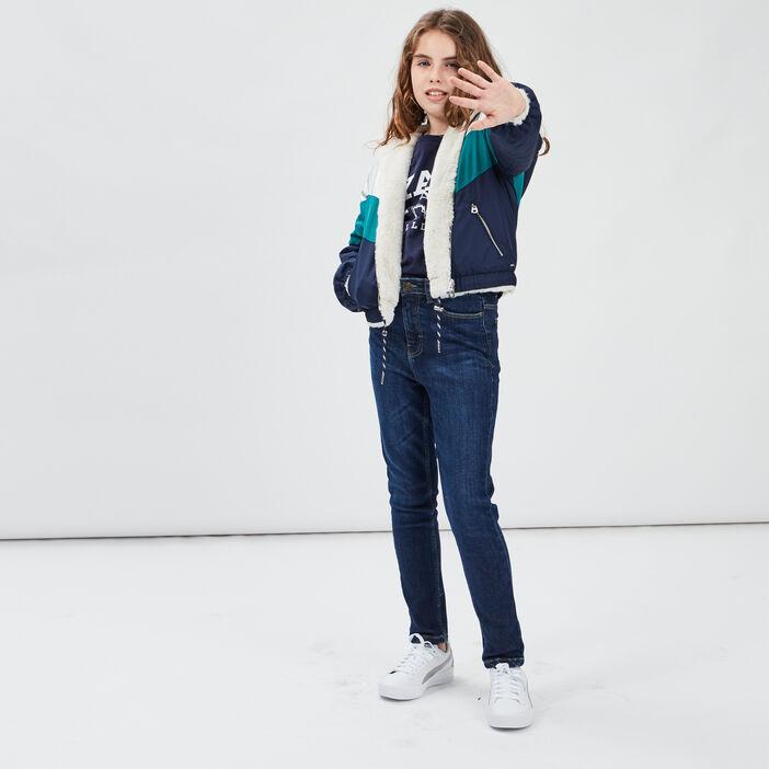 Jeans skinny fille denim brut