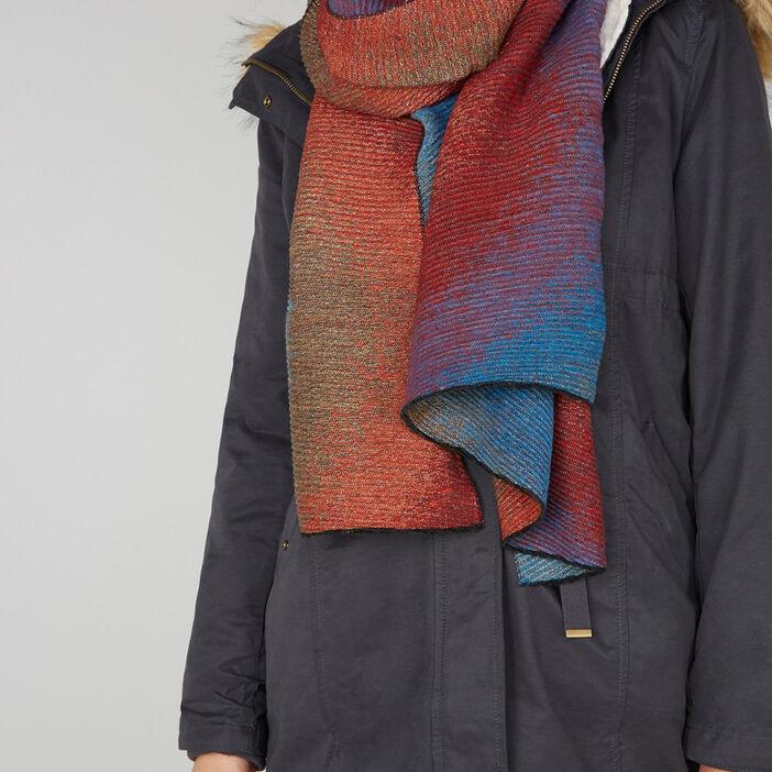 Écharpe plissée femme multicolore