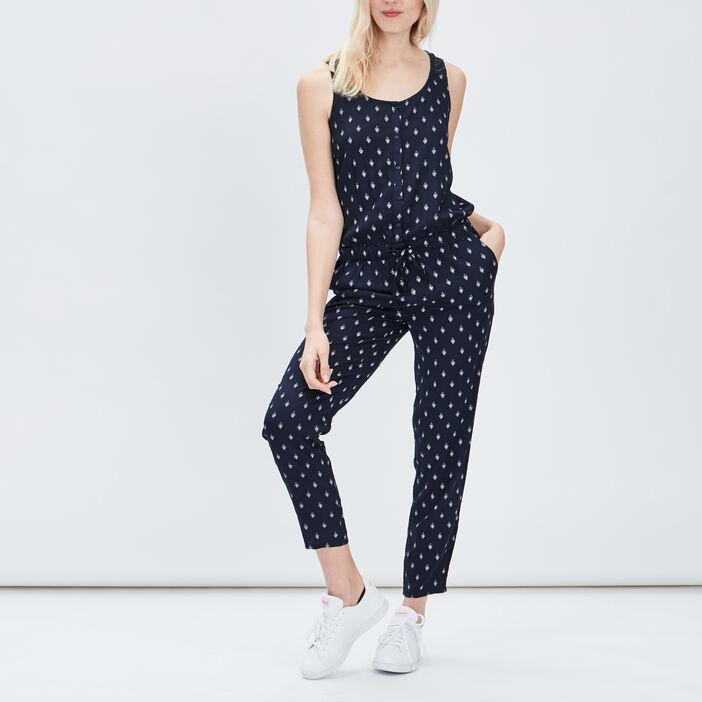 Combinaison pantalon 7/8ème femme bleu marine