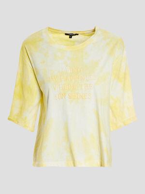 T shirt Liberto jaune femme