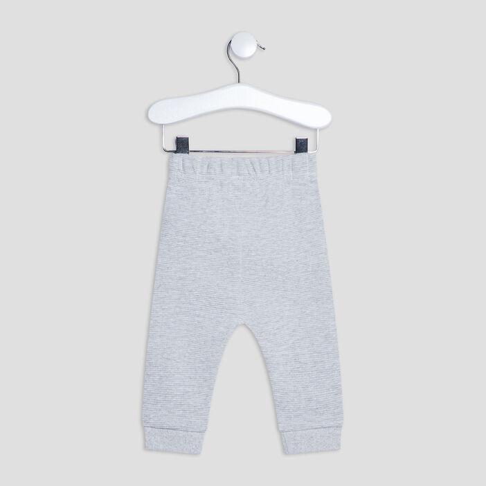 Pantalon de jogging bébé garçon gris