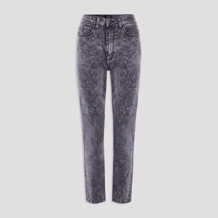 Jeans mom délavé Liberto femme gris