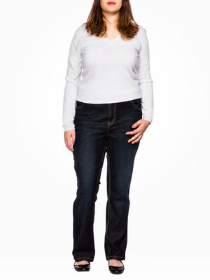 Jean grande taille coton majoritaire denim brut femme