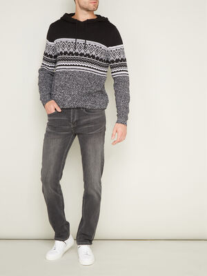 Jeans straight Creeks gris homme
