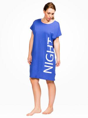 Chemise de nuit dentellee grande taille gris clair femme