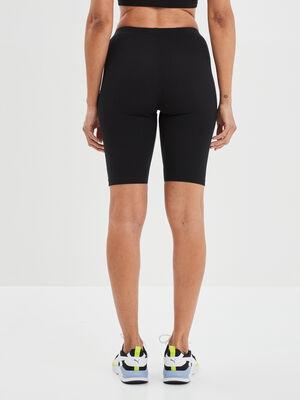 Short cycliste ajuste noir femme