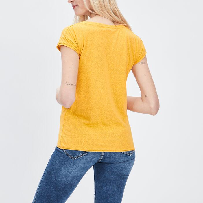 T-shirt manches courtes Creeks femme jaune