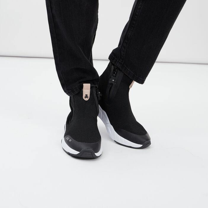 Baskets LuluCastagnette zippées fille noir