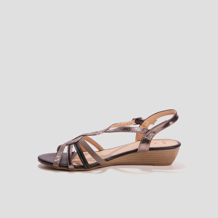 Sandales à talons compensés femme multicolore