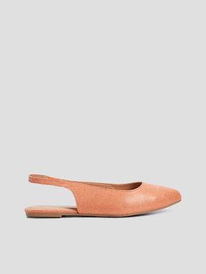 Ballerines a bout pointu rose femme