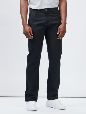 Pantalon regular noir homme