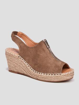 Sandales compensees Liberto vert femme