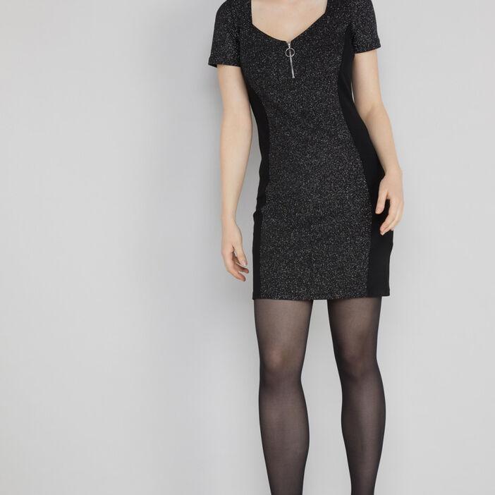Robe courte irisée femme couleur argent