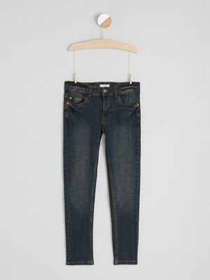 Jean slim poches rivetees denim dirty garcon