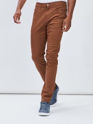 Pantalon slim camel homme