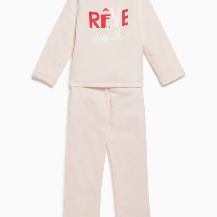 Pyjama long Aristochats fille ecru