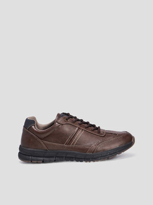 Sneakers crantes marron homme