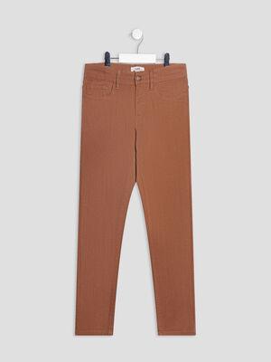 Pantalon slim camel garcon