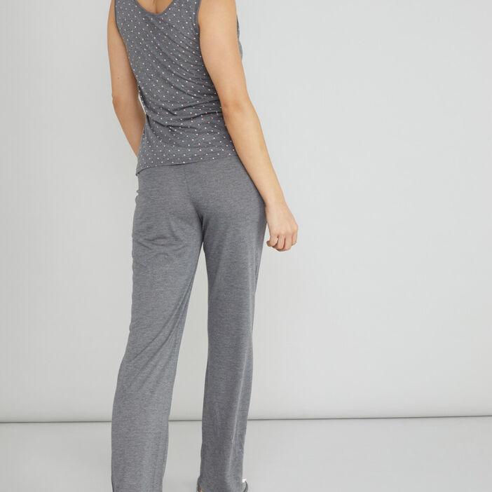 Bas de pyjama gris femme gris foncé