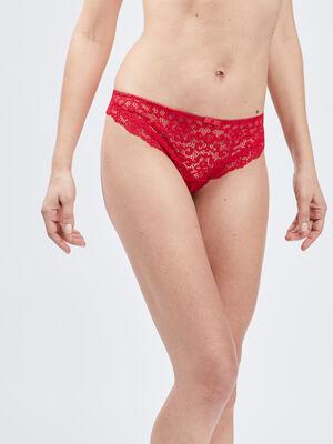 Culotte en dentelle rouge femme