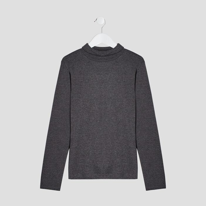T-shirt manches longues garçon gris foncé