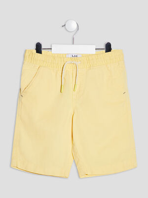 Bermuda droit jaune garcon