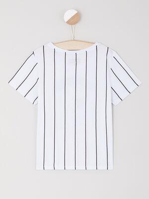 T shirt Riverdale coton et modal blanc fille