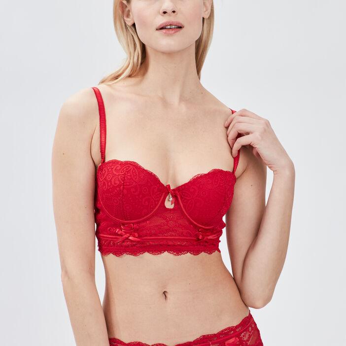 Soutien-gorge bustier femme rouge