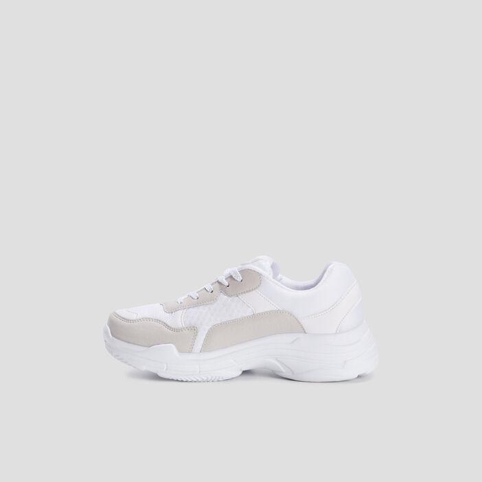 Baskets running femme blanc