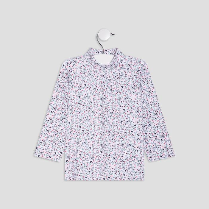 T-shirt à col roulé bébé fille multicolore
