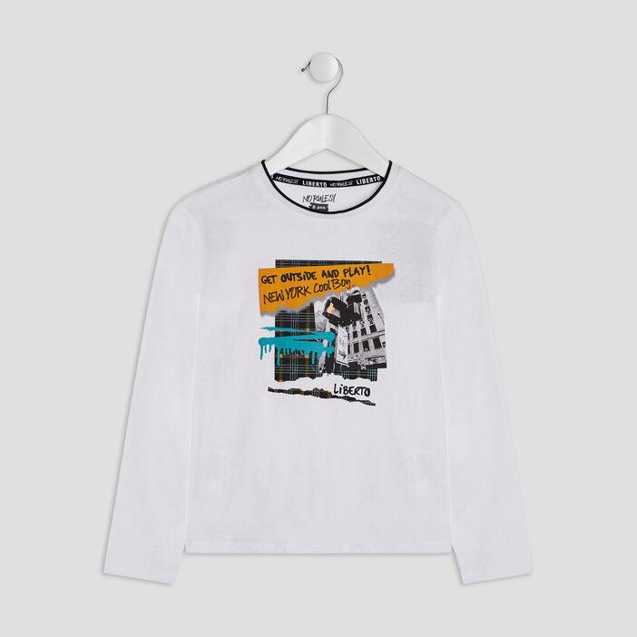 T-shirt Liberto garçon blanc