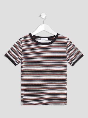 T shirt manches courtes Creeks marron fille