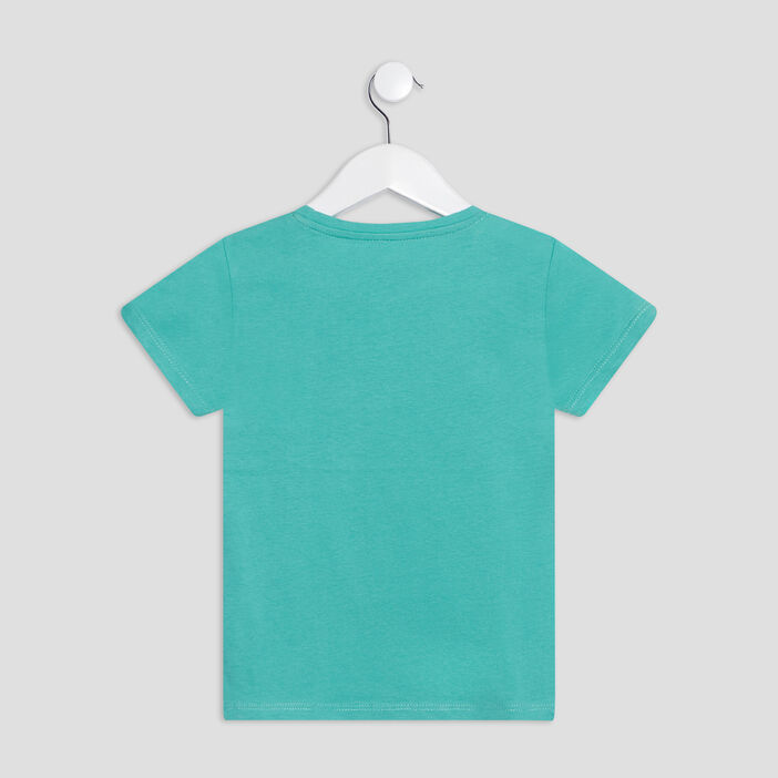 T-shirt manches courtes fille vert