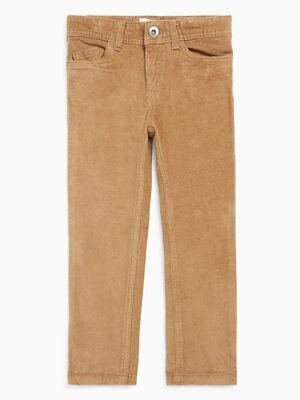 Pantalon slim en velours camel garcon