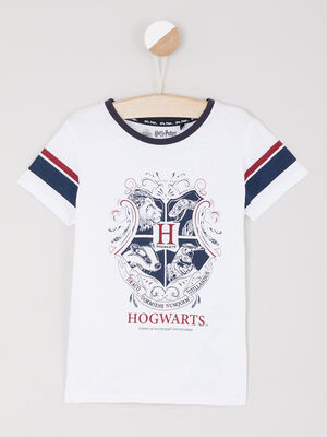T shirt Harry Potter avec imprime blanc fille