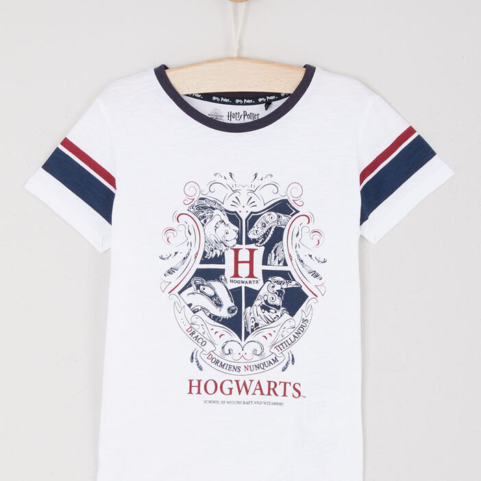 T-shirt Harry Potter avec imprimé fille blanc