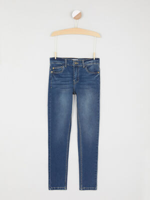 Jean skinny coutures bicolores denim dirty garcon