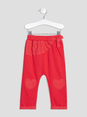 Pantalon droit detail noeud rouge bebef