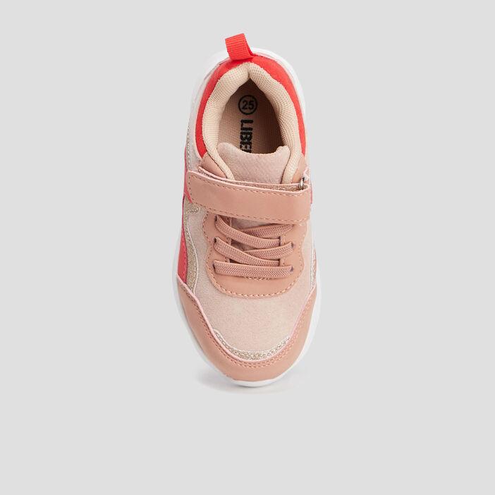 Retrorunnings crantées fille rose